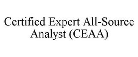 CERTIFIED EXPERT ALL-SOURCE ANALYST (CEAA)