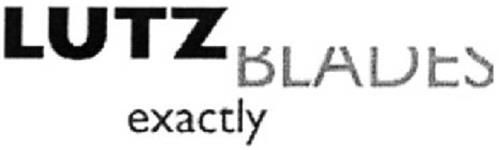 lutz blades exactly trademark of lutz gmbh co kg serial number 79078355 trademarkia. Black Bedroom Furniture Sets. Home Design Ideas