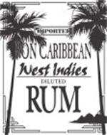 IMPORTED RON CARIBBEAN WEST INDIES DILUTED RUM