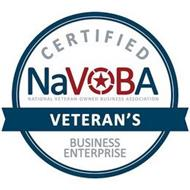 CERTIFIED NAVOBA NATIONAL VETERAN-OWNED BUSINESS ASSOCIATION VETERAN'S BUSINESS ENTERPRISE