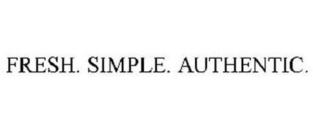 FRESH. SIMPLE. AUTHENTIC.
