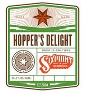 TRADE MARK HOPPER'S DELIGHT BOOMBOXES BEER IS CULTURE SIXPOINT BOOMBOXES EST 2004