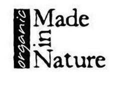 ORGANIC MADE IN NATURE