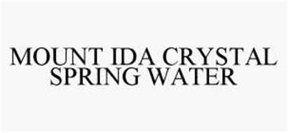 MOUNT IDA CRYSTAL SPRING WATER