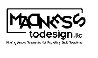MADNESS TODESIGN,LLC MOVING ACROSS DETERRENTS NOT EXPECTING SOLID SOLUTIONS.