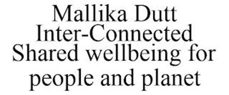 MALLIKA DUTT INTER-CONNECTED SHARED WELLBEING FOR PEOPLE AND PLANET