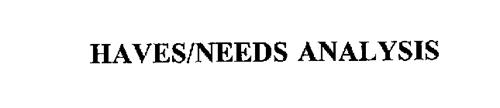 HAVES/NEEDS ANALYSIS