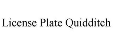 LICENSE PLATE QUIDDITCH