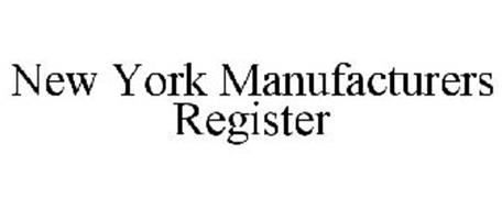 NEW YORK MANUFACTURERS REGISTER