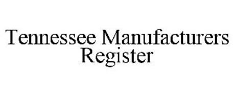 TENNESSEE MANUFACTURERS REGISTER