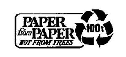 PAPER FROM PAPER NOT FROM TREES 100%