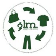 """GREEN LINE MODE GLM """"LIFE IS NATURE · PRESERVE OUR WORLD · FOOTPRINTS CAN BE WASHED AWAY."""" 