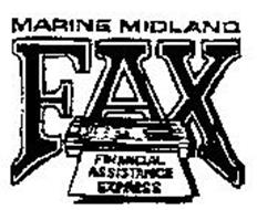MARINE MIDLAND FAX FINANCIAL ASISTANCE EXPRESS