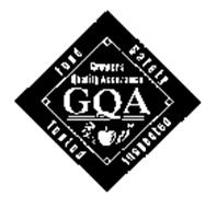 GQA GROWERS QUALITY ASSURANCE FOOD SAFETY TESTED INSPECTED