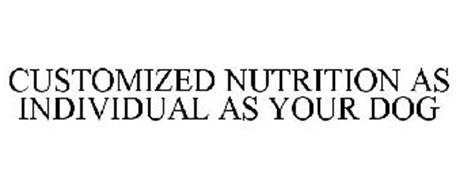 CUSTOMIZED NUTRITION AS INDIVIDUAL AS YOUR DOG