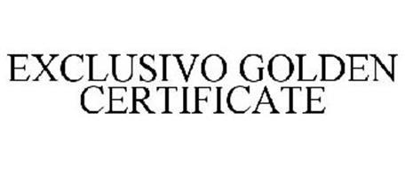EXCLUSIVO GOLDEN CERTIFICATE