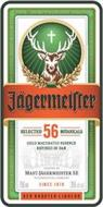 JÄGERMEISTER SELECTED 56 BOTANICALS COLD MACERATED ESSENCE REFINED IN OAK CRAFTED BY MAST-JÄGERMEISTER SE WOLFENBÜTTEL GERMANY SINCE 1878 DER KRÄUTER-LIQUEUR
