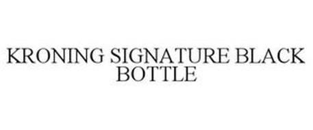KRONING SIGNATURE BLACK BOTTLE