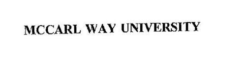 MCCARL WAY UNIVERSITY