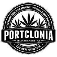 - THE MOST POPULAR STRAINS. THE HEALTHIEST PLANTS. - - THE BEST GENETICS.- PORTCLONIA SELECTIVE GENETICS