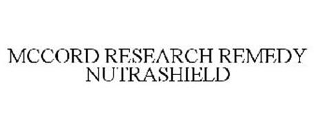 MCCORD RESEARCH REMEDY NUTRASHIELD