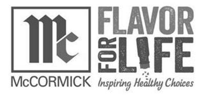 MC MCCORMICK FLAVOR FOR LIFE INSPIRING HEALTHY CHOICES