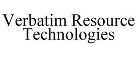 VERBATIM RESOURCE TECHNOLOGIES