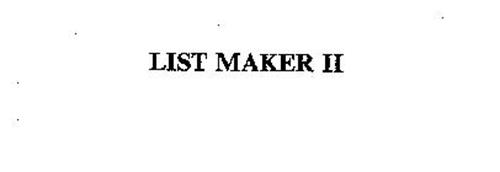 LIST MAKER II