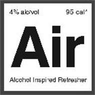 4% ALC/VOL 95 CAL* AIR ALCOHOL INSPIRED REFRESHER