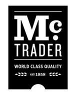 M C. TRADER WORLD CLASS QUALITY EST 1958