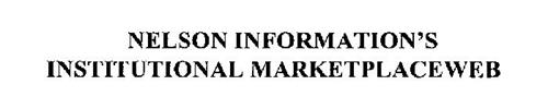 NELSON INFORMATION'S INSTITUTIONAL MARKETPLACEWEB