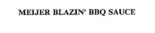 MEIJER BLAZIN' BBQ SAUCE