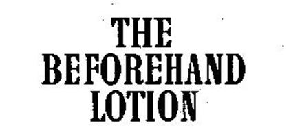 THE BEFOREHAND LOTION