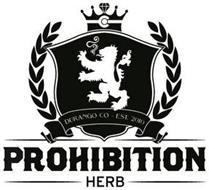 PROHIBITION HERB