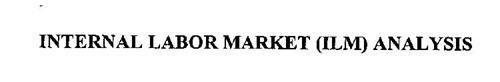 INTERNAL LABOR MARKET (ILM) ANALYSIS