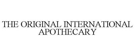 THE ORIGINAL INTERNATIONAL APOTHECARY