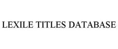LEXILE TITLES DATABASE