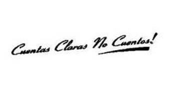 CUENTAS CLARAS NO CUENTOS!