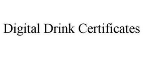 DIGITAL DRINK CERTIFICATES