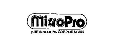 MICROPRO INTERNATIONAL CORPORATION