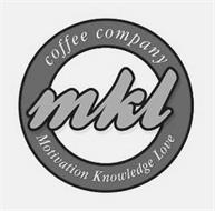 MKL COFFEE COMPANY MOTIVATION KNOWLEDGE LOVE