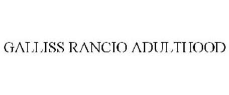 GALLISS RANCIO ADULTHOOD