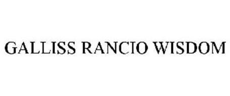 GALLISS RANCIO WISDOM