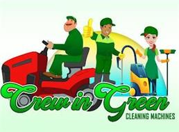 CREW IN GREEN CLEANING MACHINES