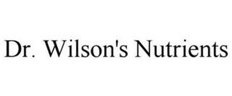 DR. WILSON'S NUTRIENTS