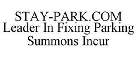 STAY-PARK.COM LEADER IN FIXING PARKING SUMMONS INCUR