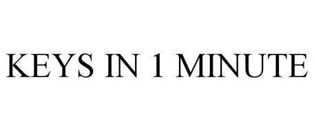 KEYS IN 1 MINUTE