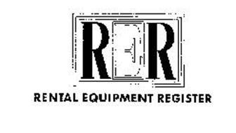 RER RENTAL EQUIPMENT REGISTER