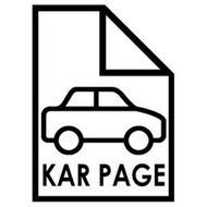 KAR PAGE