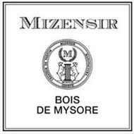 MIZENSIR CREATEUR DE PARFUM MIZENSIR MANUFACTURA GENEVE M MCMXCIX BOIS DE MYSORE